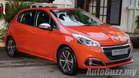 peugeot 208 model range 2017 peugeot 208 facelift launched in malaysia 1 2l turbo