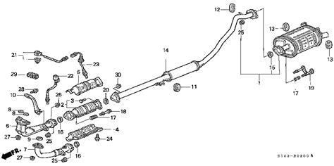 honda odyssey exhaust system diagram 1999 honda accord exhaust diagram 1999 free engine image
