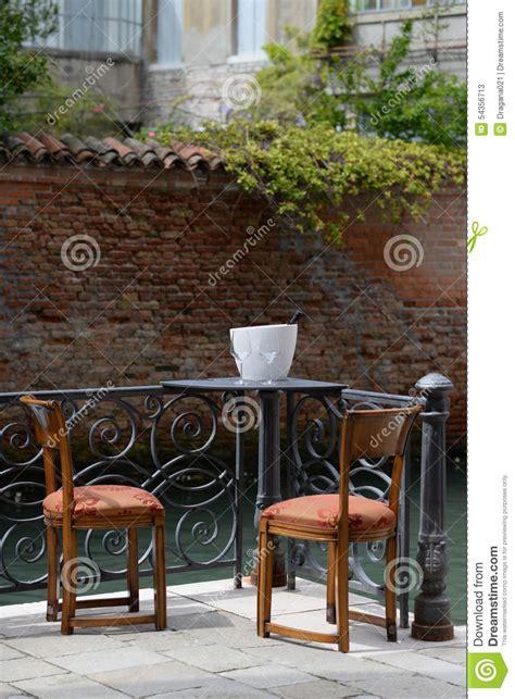 table and two chairs table and two chairs royalty free stock photo