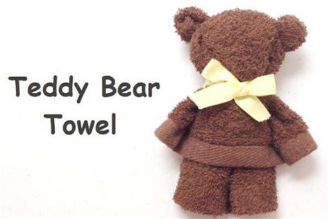 Handuk Mini Buat Traveling buat boneka teddy dengan handuk mini tutorial kesekolah