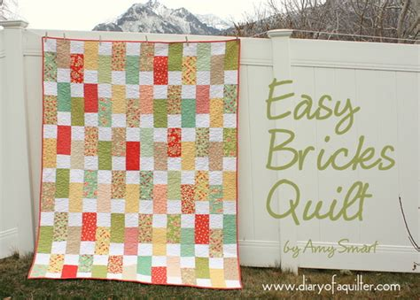 pattern for brick wall quilt easy bricks quilt tutorial diary of a quilter a quilt blog
