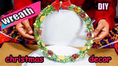 Garden Decoration Ideas From Waste Material by How To Make Wreath From Waste Material Diy On