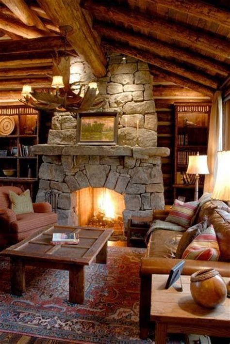 log cabin fireplace plain amazing