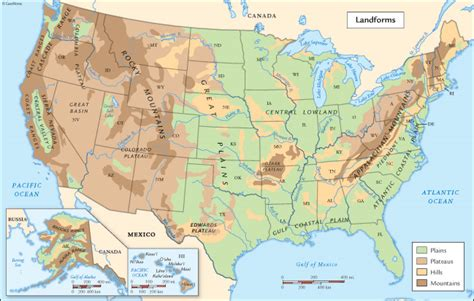 map of the united states landforms the mini page assignment dinosaurs home