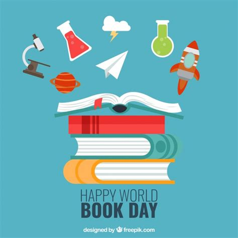 libro graphic design the new fondo de feliz d 237 a del libro con art 237 culos decorativos descargar vectores gratis