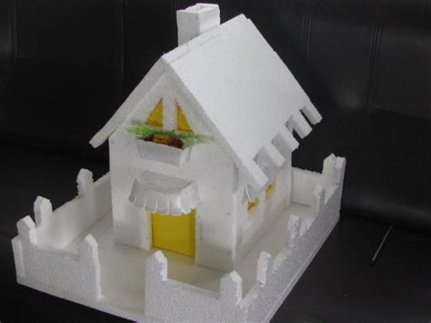 how to make thermocol bungalow house model school project water cycle craft works school projects nature study