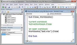 close all active workbooks vba vba excel create a for