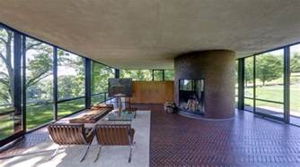 new homes interiors the glass house philip johnson new canaan connecticut