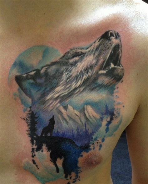 wolf howling tattoo designs 18 howling wolf designs images and photos