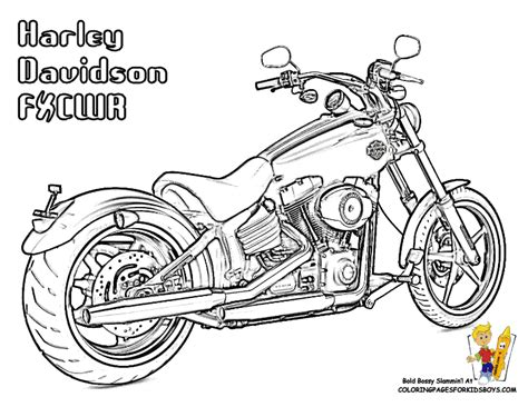 free coloring pages of motorcycle chopper