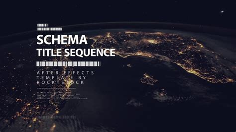 after effects title templates schema digital title sequence after effects template