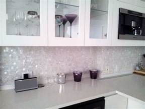 New Tiles Design For Kitchen White Seamless Freshwater Mosaic Tiles On Mesh Kitchen Project Contemporary Kitchen