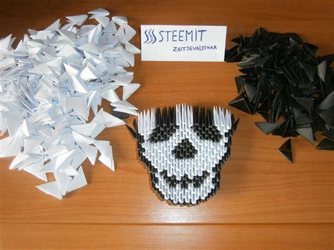 origami 3d skull tutorial origami art modular origami 3d skull steemit