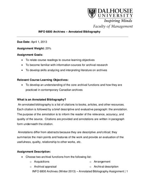 apa style assignment format annotated bibliography assignment