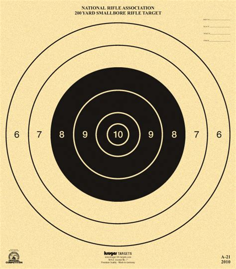 printable high power rifle targets 200 yard smallbore rifle target nra a 21 nra official