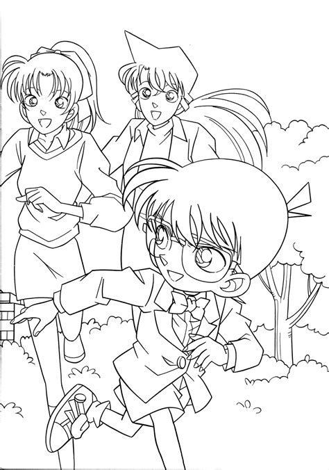 images for gt detective conan coloring pages