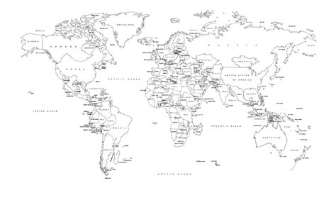 world map image black and white with country names 6 best images of black and white world map printable