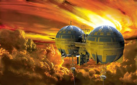 Bor Venus future tech floating colonies on venus