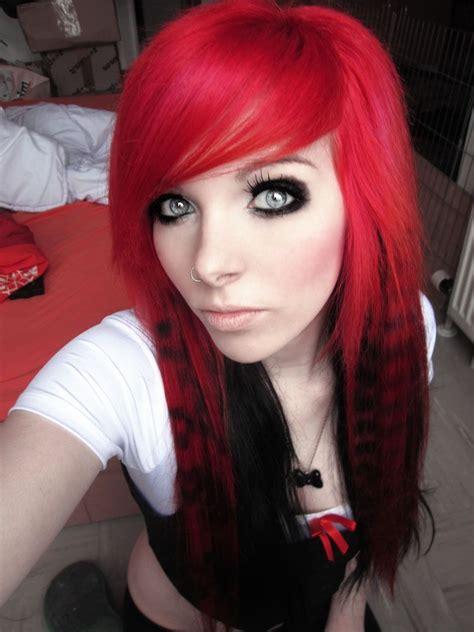 emo hairstyles for redheads scene hair german scene queen emo girl ira vira