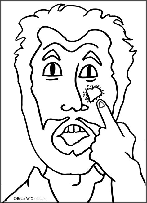 coloring pages jesus heals leper naaman the leper coloring page