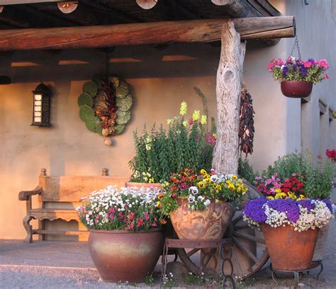 outdoor decorating spanish garden decor idea with climbing plants and rustic