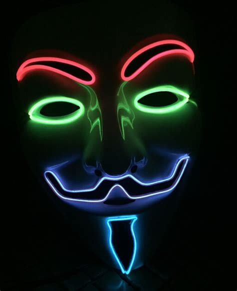 Masker Glowing aliexpress buy glowing light up cool el wire