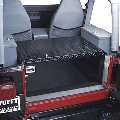 jeep wrangler storage ideas tuffy rear cargo aluminum storage box black 87 13