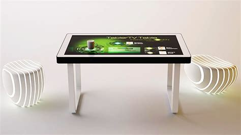 Touch Screen Coffee Table Tablertv S Touch Screen Coffee Table Lets You Interact With Users Homecrux