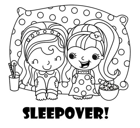 monster high sleepover coloring pages the perfect coloring page for a sleepover party coloring