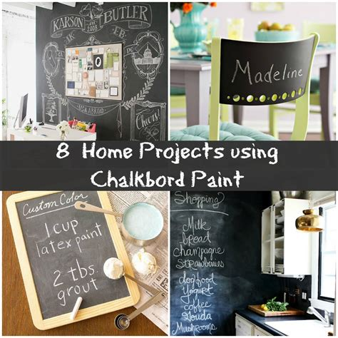 home project ideas 8 creative chalkboard project ideas for your home