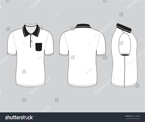Polo Shirt Design Templates Front Back Stock Vector 236140408 Shutterstock Polo T Shirt Design Template