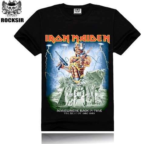 Tshirt Heavy Metal s t shirt ment shirt tshirt iron maiden skull print heavy metal rock hip hop swag