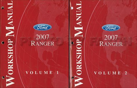 how to download repair manuals 2007 ford ranger seat position control 2007 ford ranger repair shop manual original 2 volume set