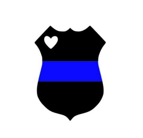 Police Badge Vinyl Decal Thin Blue Line Police Wife