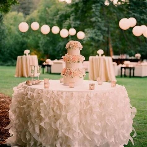 Cake Table Wedding by Wedding Cake Table Decor Ruffled Skirting