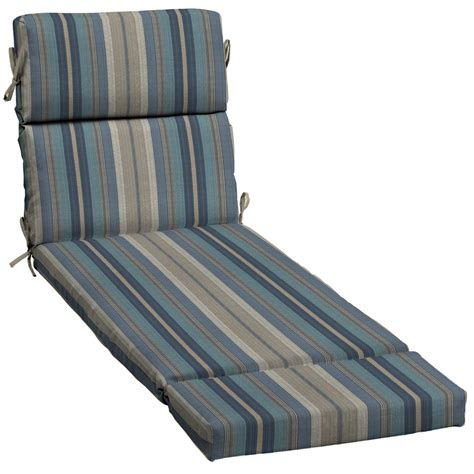 allen roth chaise lounge shop allen roth blue stripe cushion for chaise lounge at