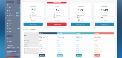 Cannavaro Premium Responsive Admin Dashboard Html5 Template Html Table Template