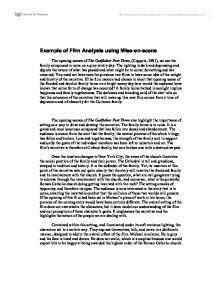 Mise En Essay by Exle Of Analysis Using Mise En Media Studies Marked By Teachers