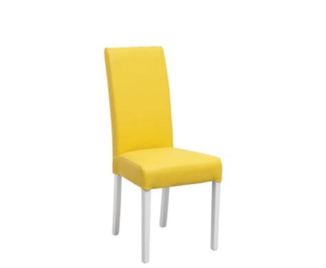Yellow Dining Chair Mandy White Budget Dining Chairs