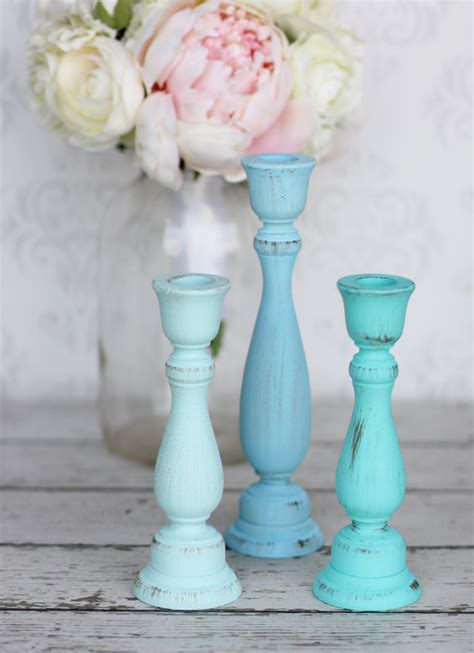 items similar to shabby chic candle holders distressed