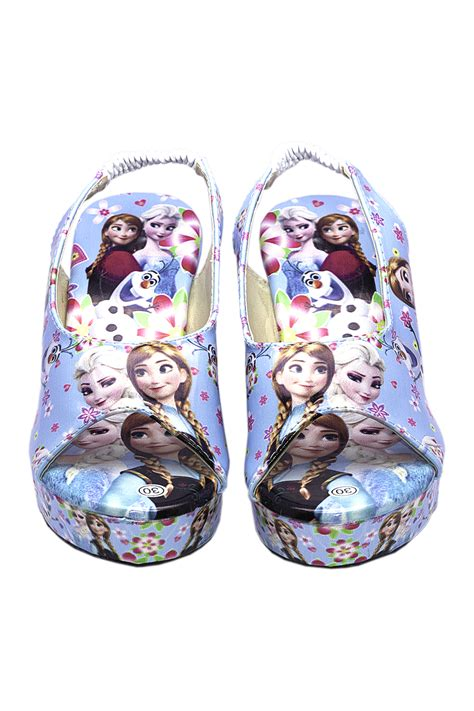 Sepatu Anak Motif Frozen Flat Shoes Frozen jual sepatu anak perempuan model wedges corak printing