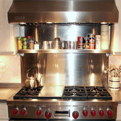 stainless steel backsplash with shelf kitchen backsplash vent wall backsplash with universal cook top kitchensource