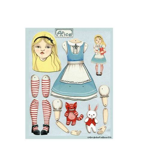 free printable jointed paper dolls alice in wonderland articulated pap