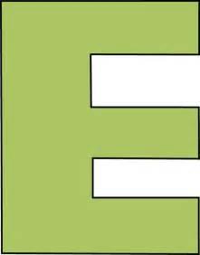 green letter e clip green letter e image