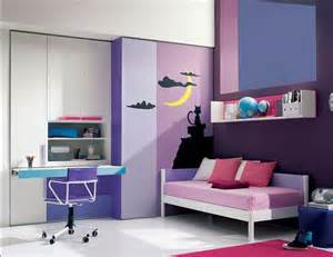 Purple Teenage Bedrooms Purple Decorative Teenage Girl Bedroom Newhouseofart Com
