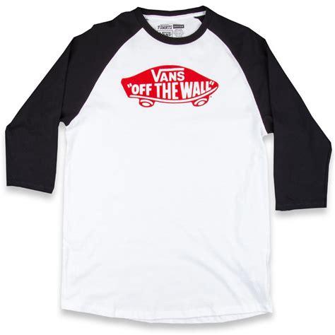 T Shirt Raglan Vans vans otw raglan t shirt white black