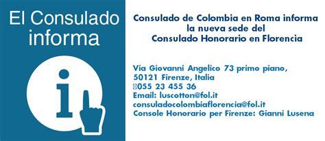 consolato colombiano roma consulado de colombia en roma