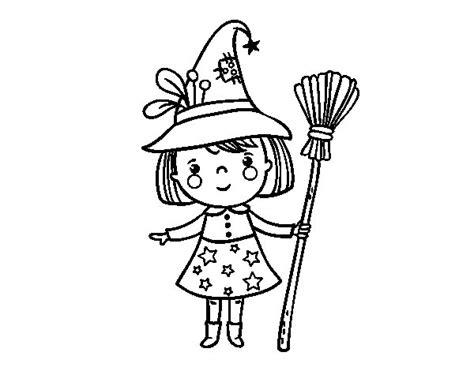 imagenes de brujas bonitas para dibujar dibujo de ni 241 a bruja de halloween para colorear dibujos net