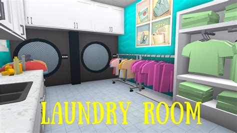 robloxbloxburg laundry room tutorial decorate  living
