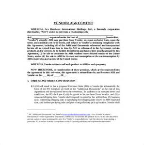 vendor agreement template 10 vendor agreement templates free sle exle